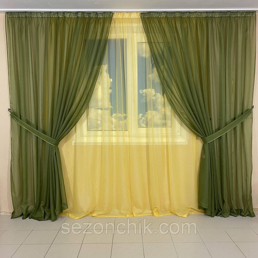 Комплект штор в гостиную яркие цвета
