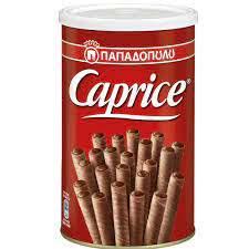 Шоколадные трубочки Caprica 400 g