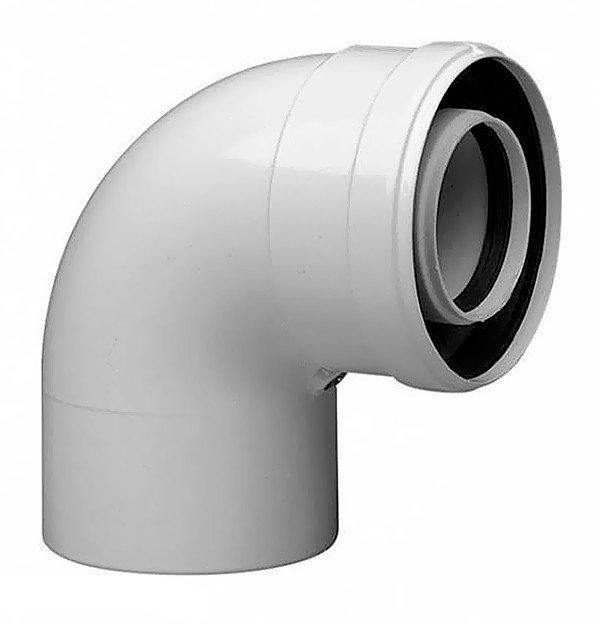 Коаксиальный отвод 90° Bosch AZB 607/1, Ø80/125 (7719002766)