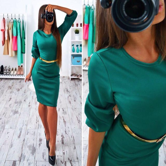 Платье женское с карманами и рукавами фонарик 42 44 46 48 50 Р