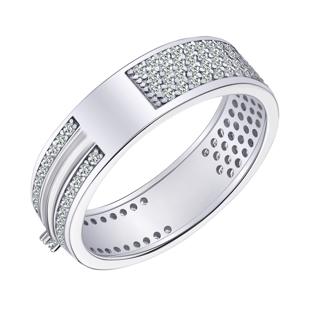 Серебрянное кольцо родированное - КК2Ф/2051-17