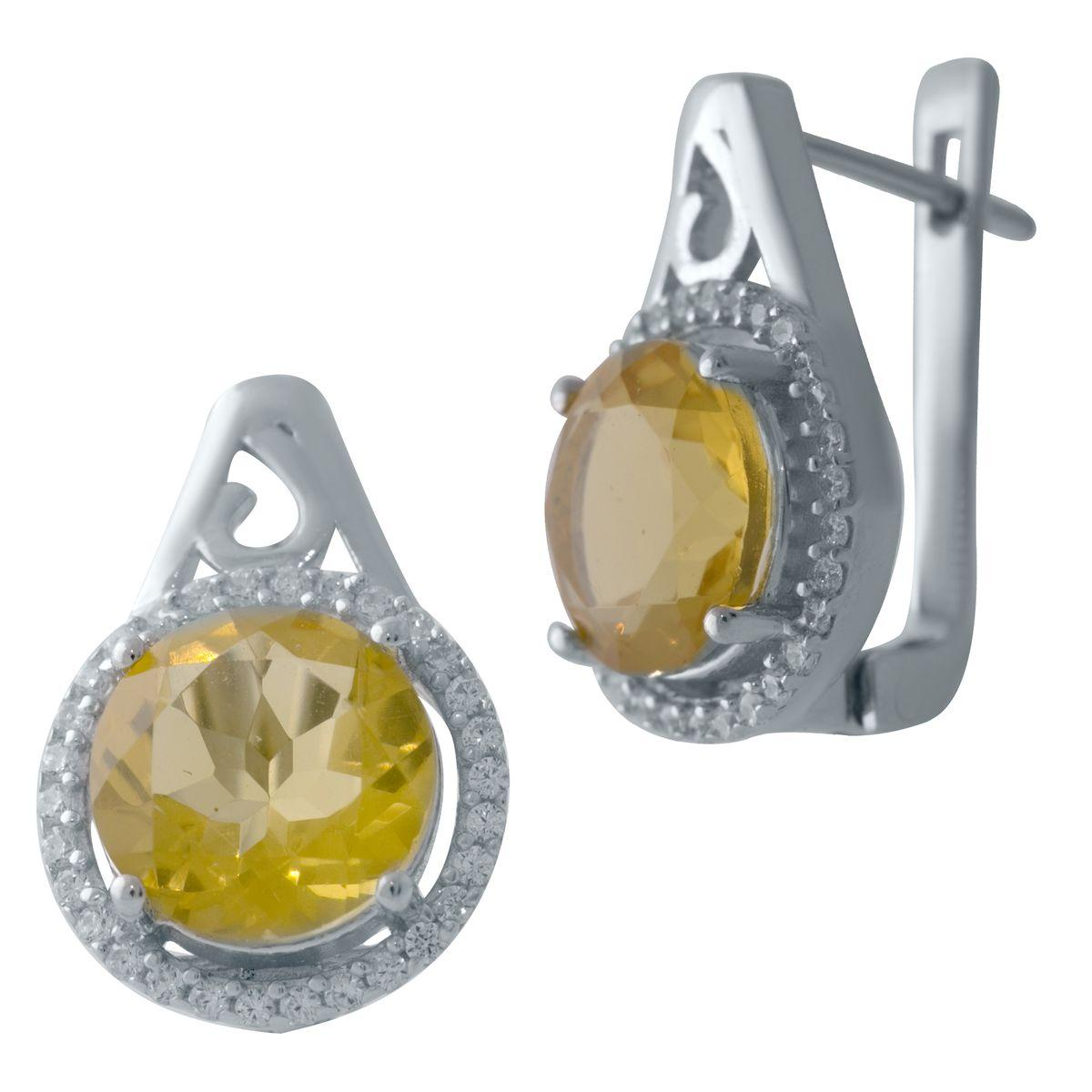 Серебряные серьги DreamJewelry с цитрином nano (2031895)