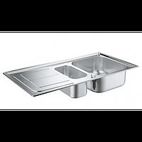 Набор кухонная мойка Grohe EX Sink 31565SD0 K300 и смеситель Eurosmart 33281002