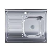 Мойка для кухни стальная, накладная- левое для кухни, прямоугольная с нержавеющая сталь от бренда