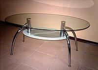 Стол стеклянный журнальный  В-2