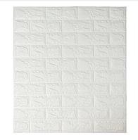 Самоклеящиеся 3d панели обои для стен Комплект 5 шт. Sticker Wall Original 700x770x7мм. Шумоизоляционные Гипоалергенные Сертифицированные Белый кирпич