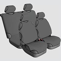 Накидки на сиденья автомобиля универсальные Beltex Cotton 2+2 серый без подголовников