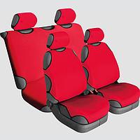 Накидки на сиденья автомобиля универсальные Beltex Cotton 2+2 красный без подголовников