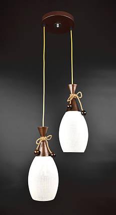 Люстра потолочная подвесная на 2 лампочки 11322/2 Коричневый 50х35х35 см., фото 2