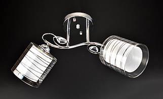 Люстра стельова на 2 лампочки (25х17х50 див.) Хром або золото YR-7340B/2-ch