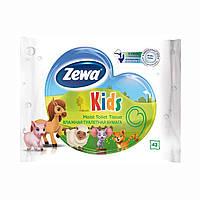 Влажная туалетная бумага Zewa Kids детская, 42 шт 6787-00 ТМ: Zewa