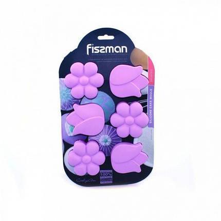 Форма для выпечки кексов Fissman Нарцисс и тюльпан 6678 26,5x17x3 см, фото 2