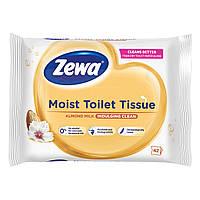 Влажная туалетная бумага Zewa Almond Milk 42 шт ТМ: Zewa