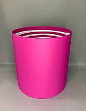 Коробка средняя круглая высокая без крышки ( малина перламутр)