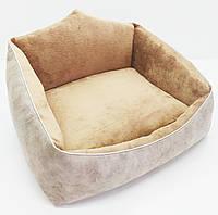 Лежак для собак и кошек Айсберг коричневый, фото 1