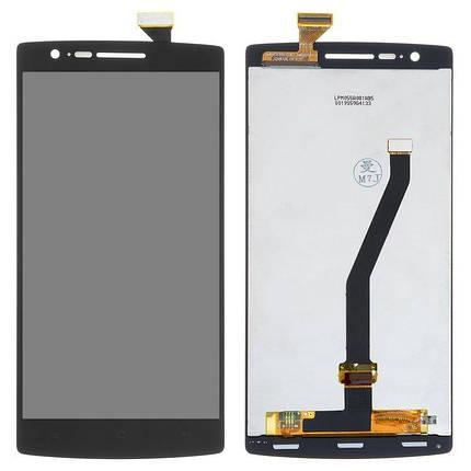 Дисплей (екран) для OnePlus One (A0001) з сенсором (тачскріном) черный, фото 2