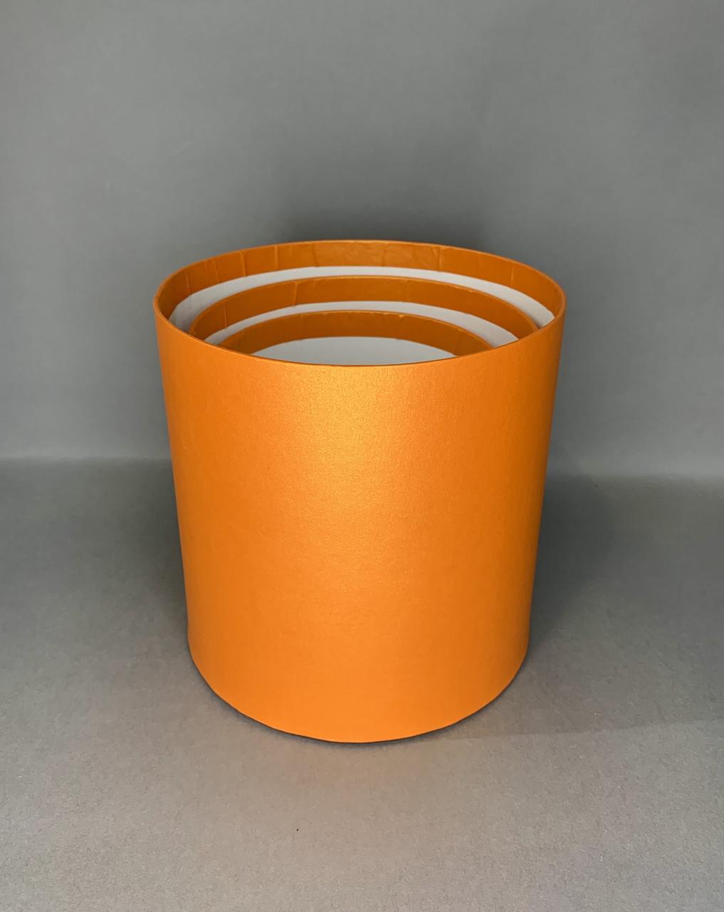 Мини матрёшка ( оранжевая перламутр)