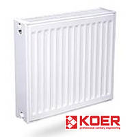 Радиатор стальной KOER 500x1000 Тип 22 - Боковое подключение (Чехия)