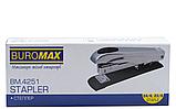 Степлер 24/6, 23/8, 20 - 50 листов, BM.4251, металлический корпус 168 мм., ассорти. BuroMax, фото 3