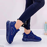 Кроссовки женские синие текстиль, фото 2