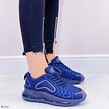 Кроссовки женские синие текстиль, фото 4