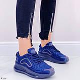 Кроссовки женские синие текстиль, фото 3