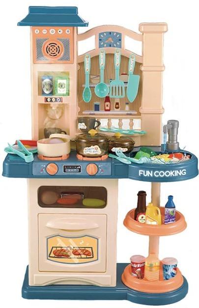 Детская интерактивная кухня Bozhi Toys Fun Cooking с водой и холодным паром зеленая