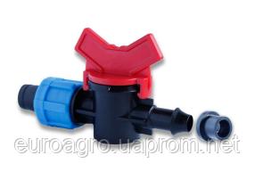 Кран стартовый для пластиковой трубы с уп.резинкой,Dn17x8 (КС17х8R)