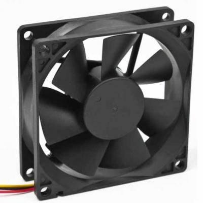 Вентилятор Gembird FANCASE/Ball, 80х80х25мм, 3-pin, черный, фото 2