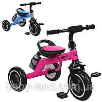 Детский трехколесный велосипед с бутылочкой M 3648-M-1 голубой
