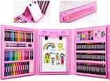 Художественный набор для рисования в чемоданчике с мольбертом детский для творчества 208 предметов + раскраска, фото 5