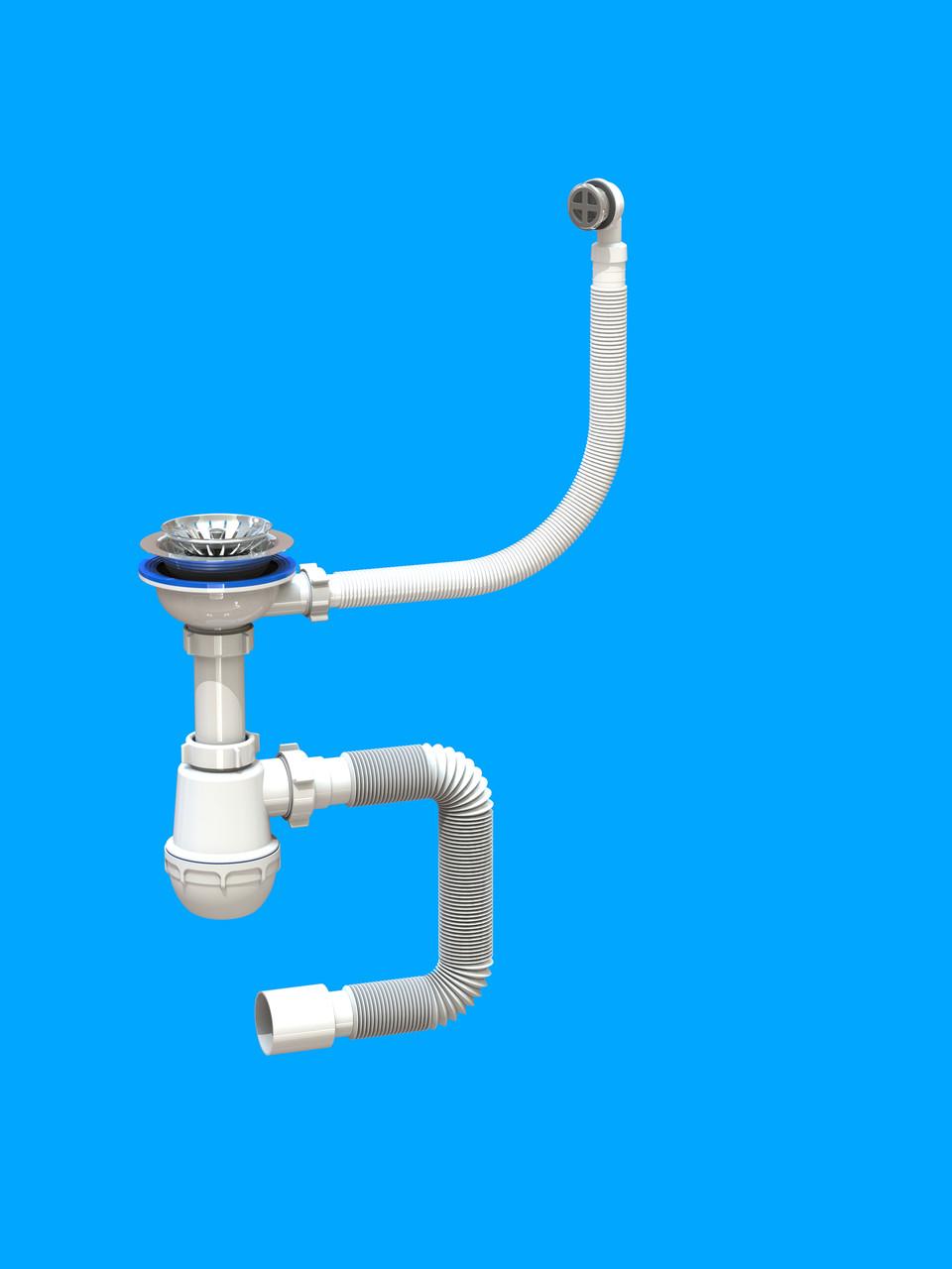 Сифон «Лотос-Мойка BIG — CERAMICS P2 для керамических моек