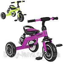 Детский трехколесный велосипед с бутылочкой M 3648-M-2 фиолетовый и салатовый