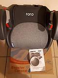 Детское автокресло бустер для перевозки детей в машине El Camino ME 1144 RORO Isofix Dark Gray (22-36 кг), фото 5