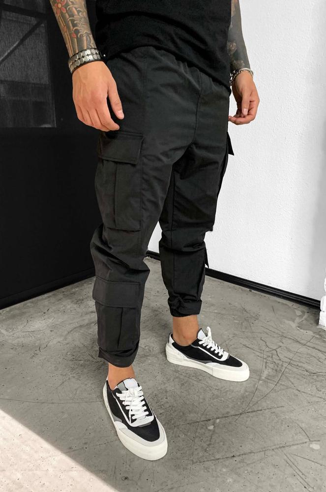 Мужские джинсы-карго Black Island 5683 black