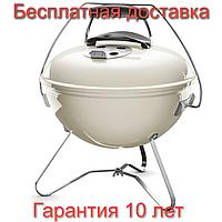 Гриль угольный Weber Smokey Joe Premium Ø37 см (бежевый) США, оригинал