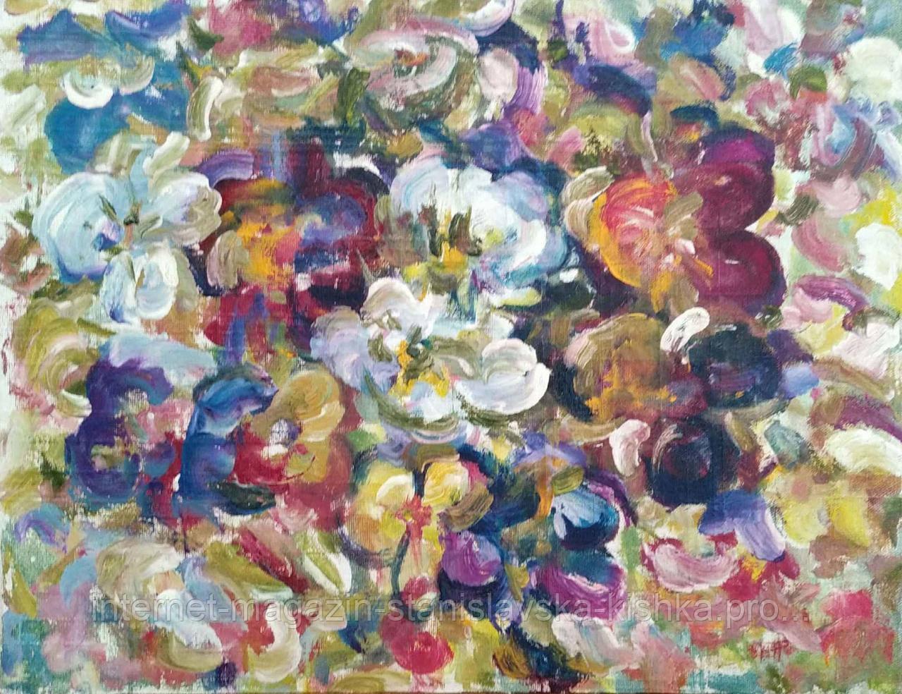 Картина БРАТЧИКИ ВІОЛА натюрморт полотно, олія 40 * 30