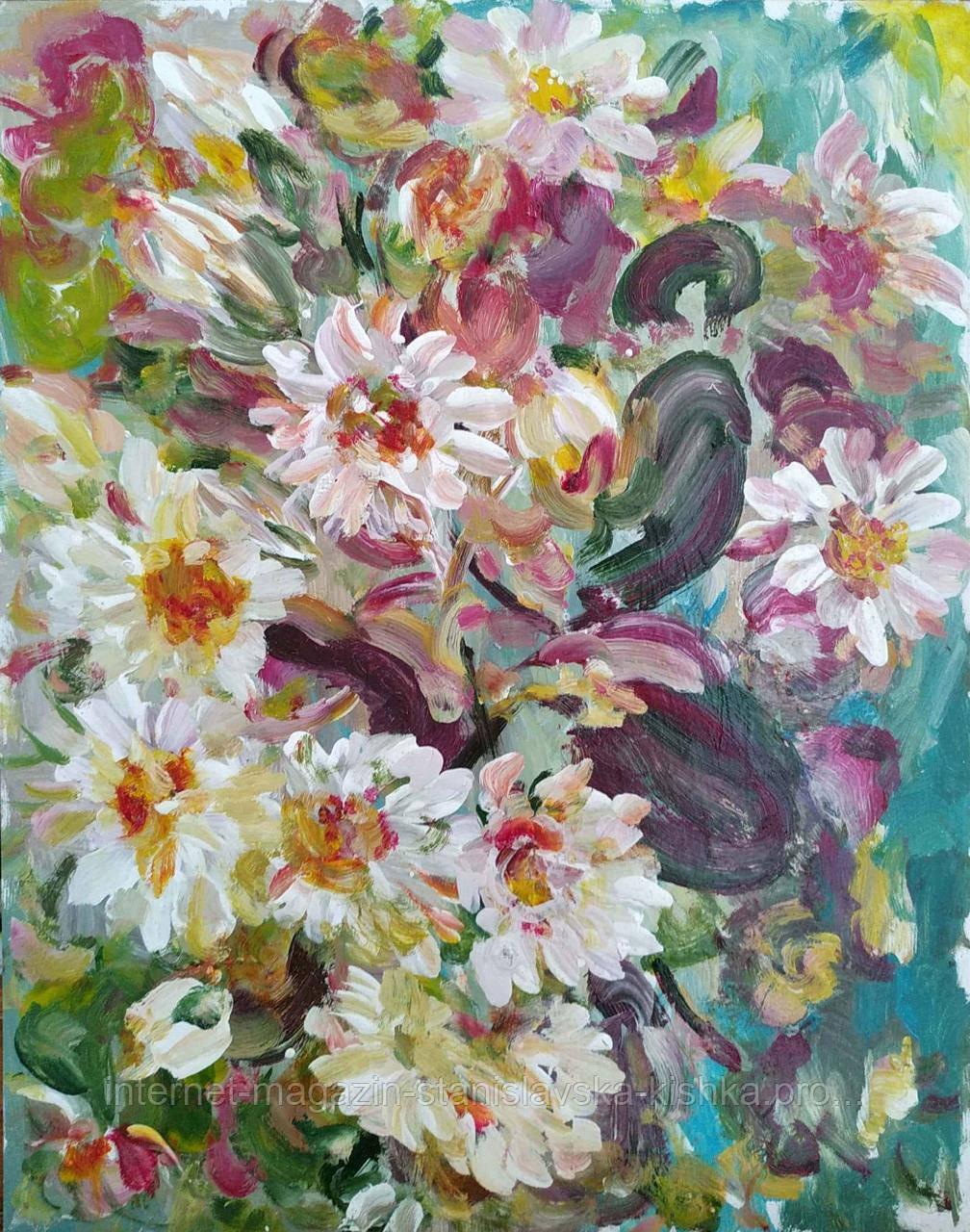 Картина ЛАТАТТЯ натюрморт картон, олія 41 * 33