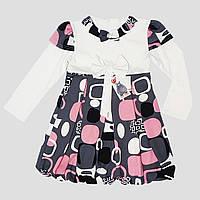 Платье трикотажное для девочки 4-6 лет