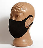 Многоразовая защитная маска для лица. Черного цвета с принтом Puma, фото 3