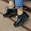 Черные женские кроссовки  кожаные    36-40 черный, фото 6