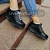 Черные женские кроссовки  кожаные    36-40 черный, фото 3