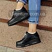 Черные женские кроссовки  кожаные    36-40 черный, фото 5