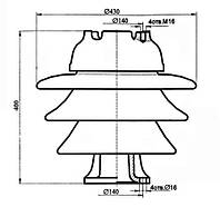 Изолятор ОНШ-35-20-1 УХЛ1 (ОШН-20-195 УХЛ1)