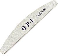 Пилочка двухсторонняя OPI 100/120 полукруг серая для коррекции формы ногтя