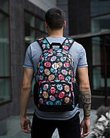 "Рюкзак Pobedov Backpack ""Ambition"" Kolorovi cherepy"