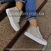 Высокие кеды женские кожаные    36-40 бежевый, фото 3