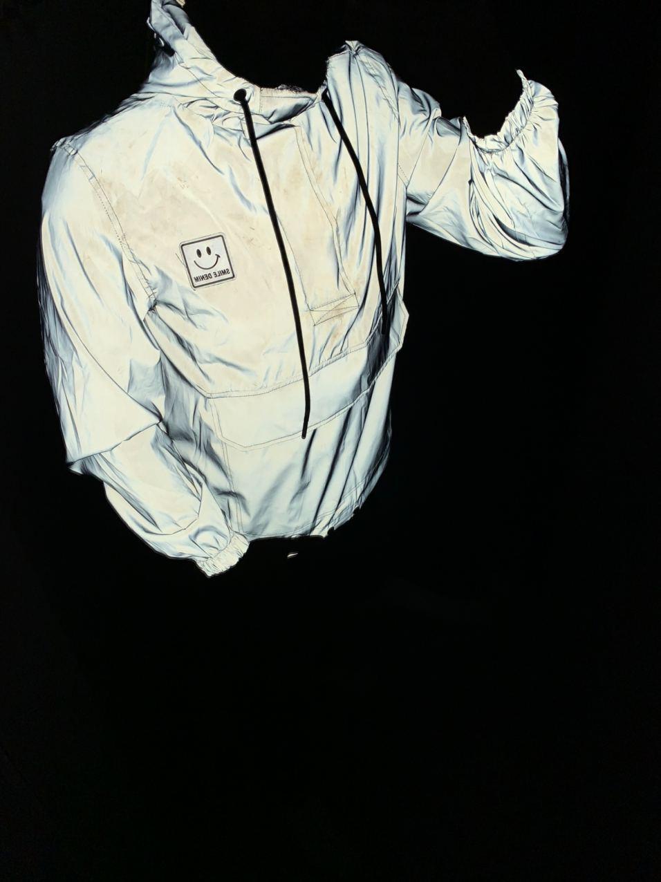 Мужской анорак серый рефлектив Smile Denim Reflector