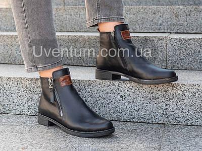 Ботинки женские кожаные модные   36-41 черный