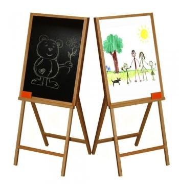 Дитячий дерев'яний мольберт для малювання крейдою й фломастером двосторонній арт.ВП 011